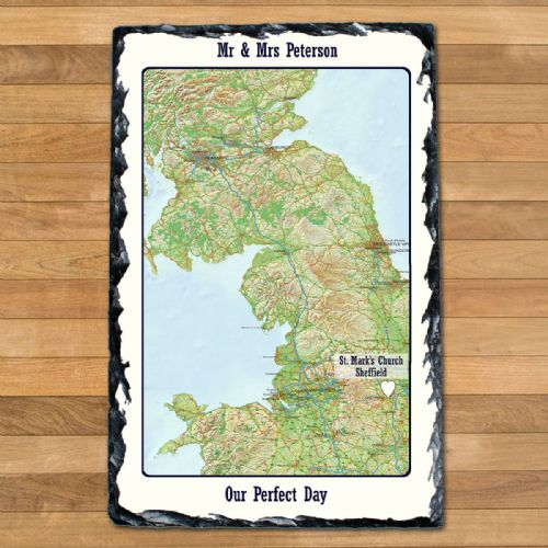 Personalised Special Places Slate Keepsake